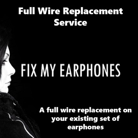 ETYMOTIC Earphones - Etymotic Full Wire Replacement Service For Earphones