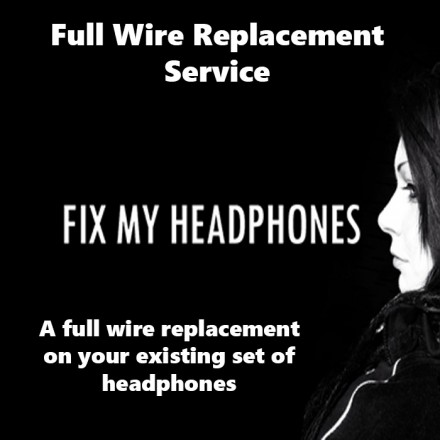 bellodigital Headphones - Bell'O Full Wire Replacement Service For Headphones