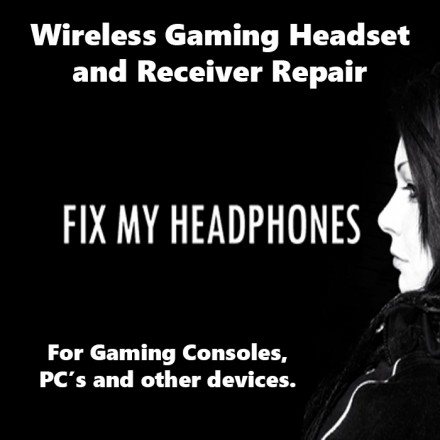 Sony Headphones - SONY Wireless Gaming Headset & Receiver Repair For Headphones
